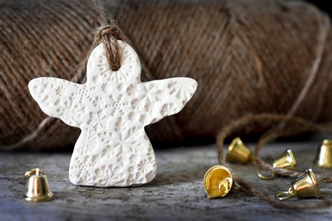 ceramic snowflake angel christmas decoration felt