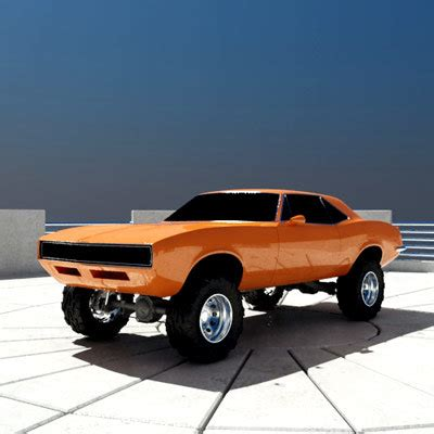 off road sports car offroad muscle car 3d model