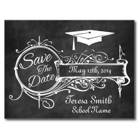 Save The Date Graduation Cards Templates by 76 Best Chalkboard Save The Date Images On