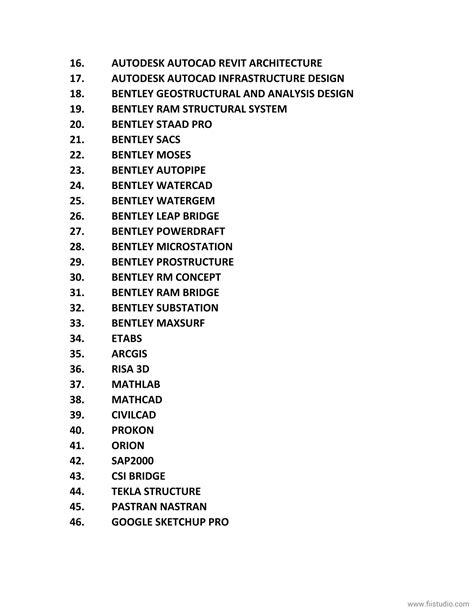 tutorial c list list of engineering software tutorial certification