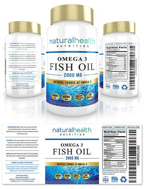 Omega 3 Fish Oil Supplement Label Template Design Supplement Label Template