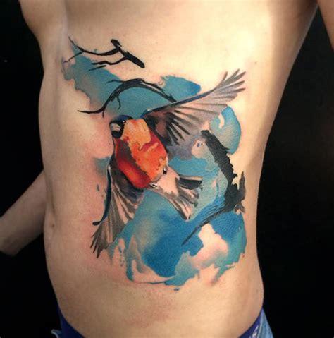 bullfinch side tattoo best tattoo design ideas