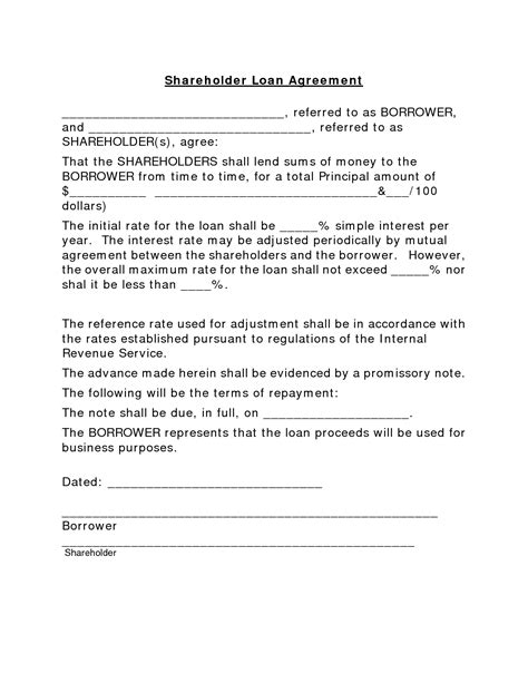 simple business loan agreement template best photos of simple loan note template simple