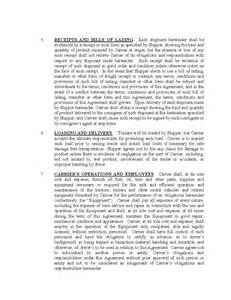 carrier template contract carrier transportation agreement free
