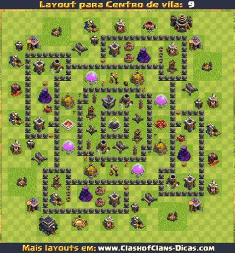 Layout Atualizado Cv 9 | layouts para cv9 em clash of clans atualizados clash