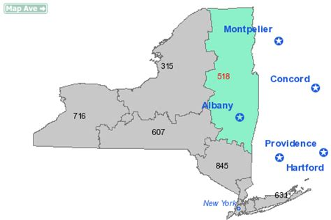 what us area code is 518 area code 518 information