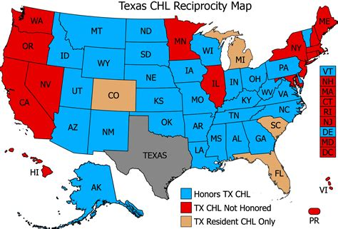 texas concealed handgun reciprocity map concealed carry reciprocity newhairstylesformen2014