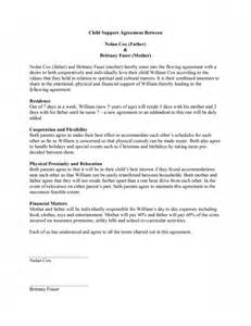 Child Support Template by Child Support Agreement Template Free Microsoft Word Templates