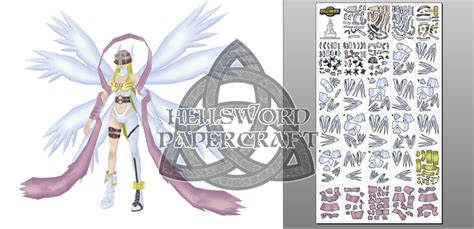 Digimon Papercraft - preview digimon angewomon papercraft by