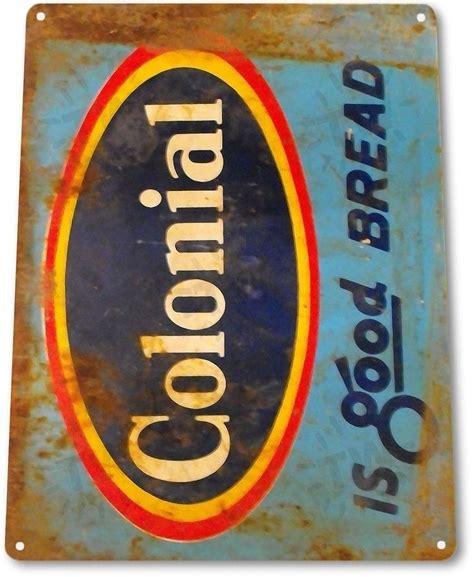 Metal Art Decor Tin Sign Colonial Bread Metal Decor Wall Art Kitchen