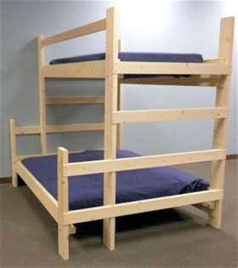 free bunk bed plans twin over queen | quick woodworking