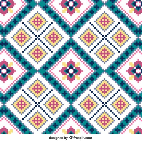 knit pattern vector knitting pattern with flowers vector free download