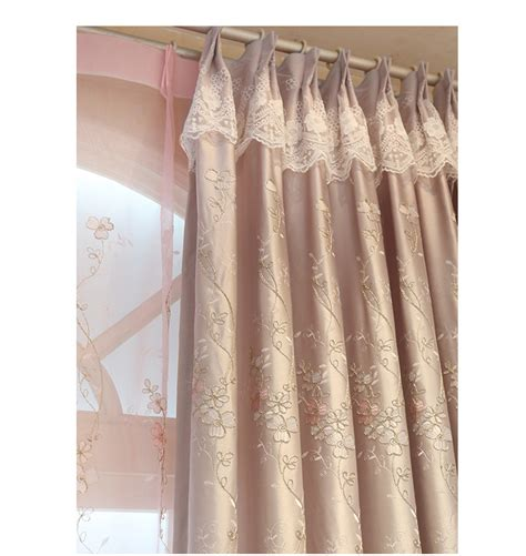 blackout curtains with hooks embroidered curtains european garden style window curtain