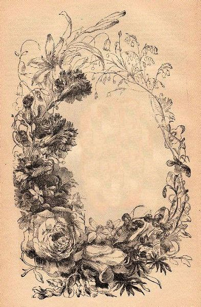 Tattoo Flower Frame | victorian floral frame the graphics fairy