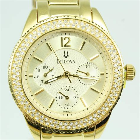 womens gold colored bulova property room