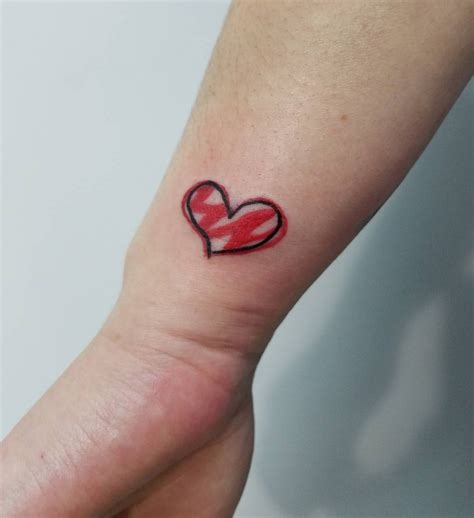 small heart tattoo wrist 21 designs ideas design trends premium