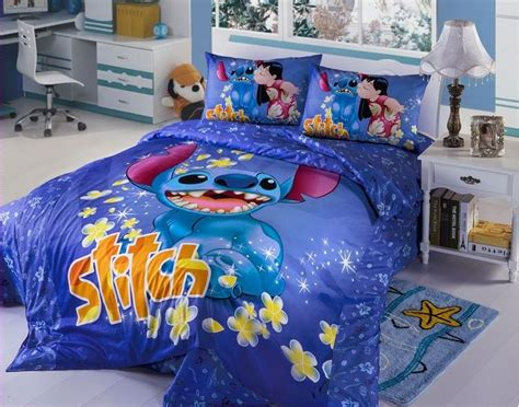 New 2017 Disney Lilo Stitch Bedding Set 4pc Queen King Bed Disney King Bedding Set