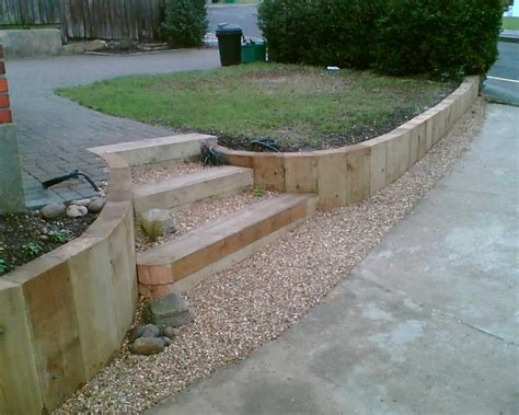 Landscaping Sleepers Eddie Mackintosh S Terrace Garden Project With Railway