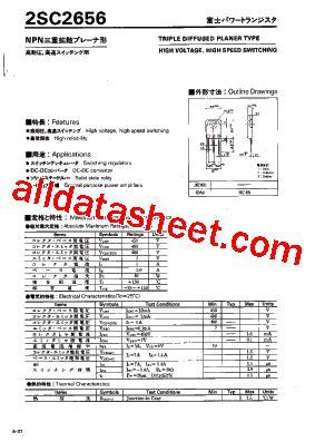 et191 transistor datasheet 2sc2656 datasheet pdf fuji electric