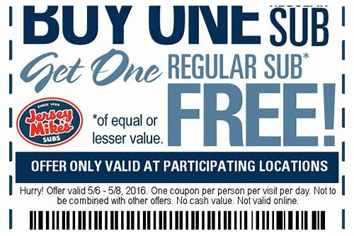 jersey mike's coupons bogo