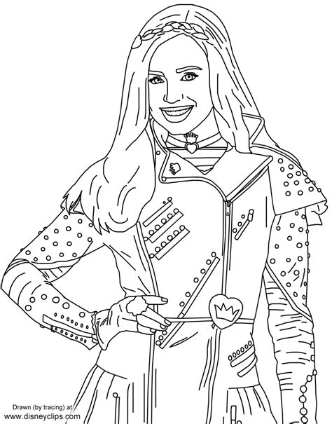 Descendants 2 Coloring Pages Evie by Evie From Disney S Descendants Free Printables