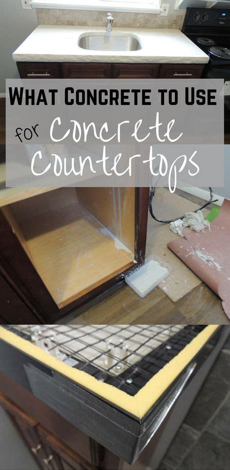 diy concrete countertops ideas  pinterest concrete table top concrete table