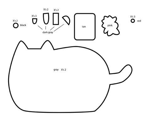 pattern cat drawing how to make a pusheen nyan cat plushie template tutorial