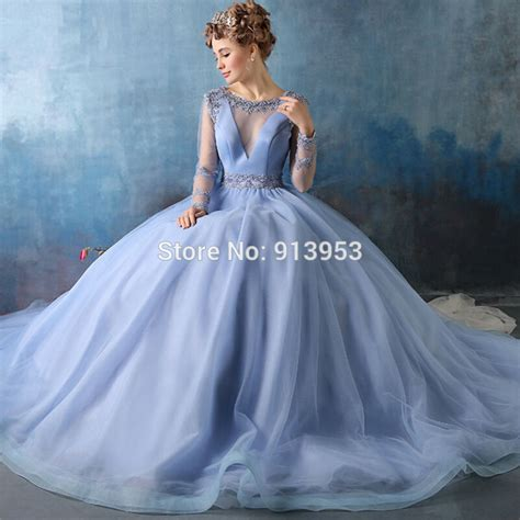 New Season Trends Of The Ballgown by Annbridal Yq2 Real Pictures V Neck Sleeve