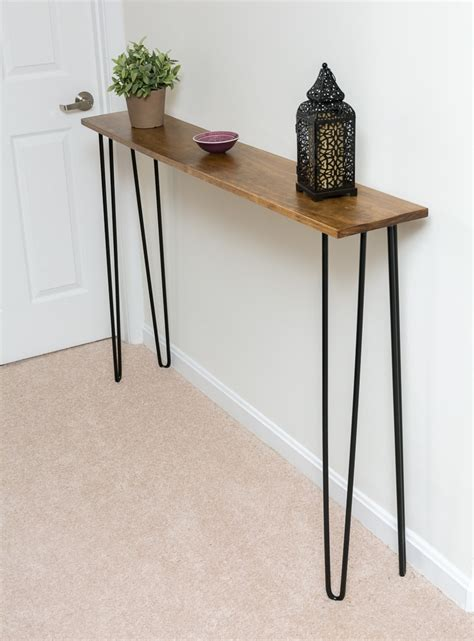 Leftover Pine Diy Hairpin Leg Console Table By