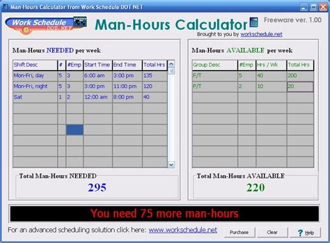 Credit Hours Calculation Formula Hours Calculator Free Hours Calculator 1 0 Finance Business