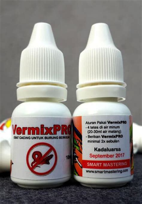 Obat Cacing Burung Kenari vermixpro obat cacing untuk burung berkicau smart mastering