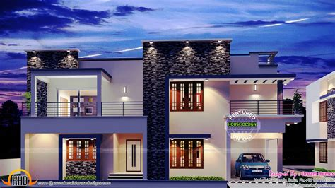 simple contemporary style villa plan 2975 sq ft contemporary villa kerala home design and