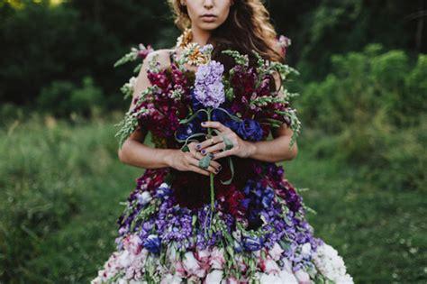 Ths Flower Dress a dress made of flowers green wedding shoes
