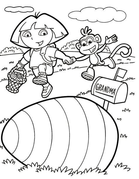printable dora activity sheets dora procurando ovos de p 225 scoa colorir org