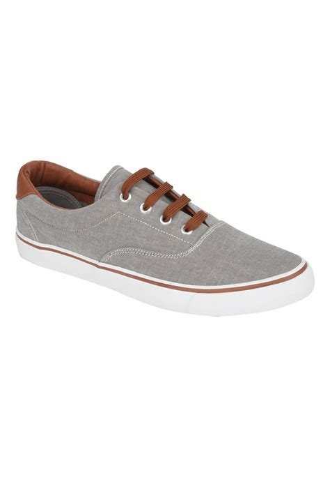 peacocks mens gents lace up canvas shoe casual footwear