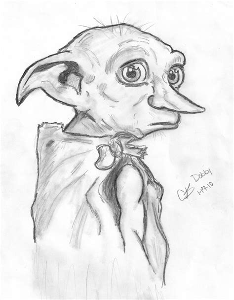 harry potter coloring pages of dobby the gallery for gt harry potter dobby drawing