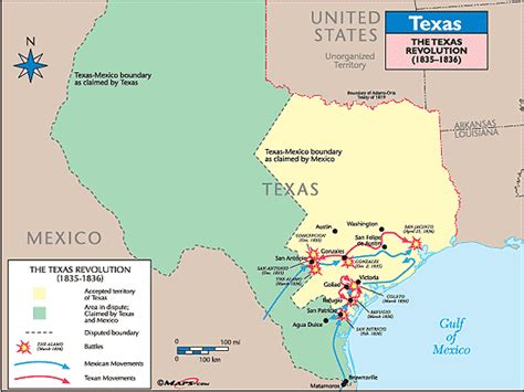 texas revolution map 1836 texas historical map the texas revolution 1835 1836 by maps from maps world s