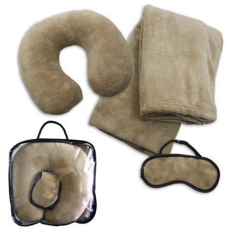Travel Pillow And Blanket Sets by Fleece Travel Set Blanket Neck Pillow Eye Mask