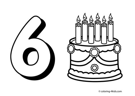 6 Numbers Coloring Pages Coloring Pages Pinterest Number 6 Coloring Pages