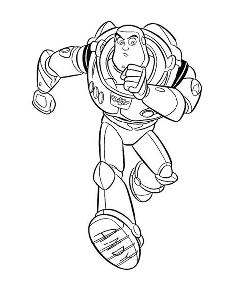 color buzz free printable buzz lightyear coloring pages for