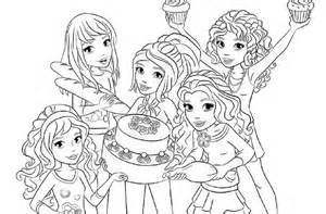 lego friends free coloring pages