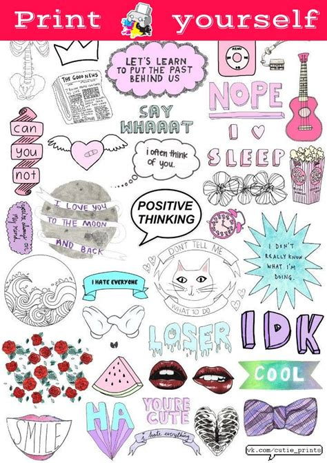 printable stickers nz set 117 mockup printable tumblr stickers stickers set of