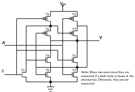 cmos transistor or gate construct a table that gives the on status of each transistor inthe circuit above for all