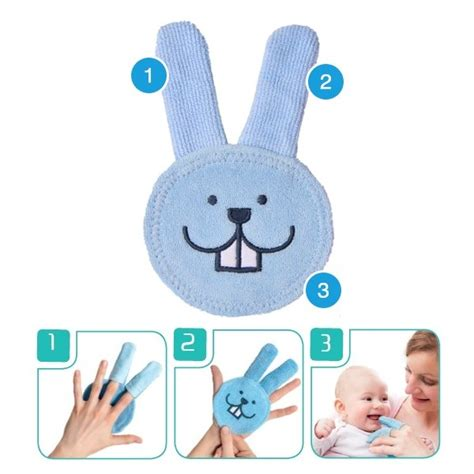 mam oral care rabbit blue clean baby s mouth area