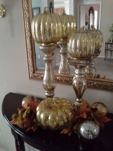 qvc home decor fall decor the mercury glass pumpkins are by valerie on
