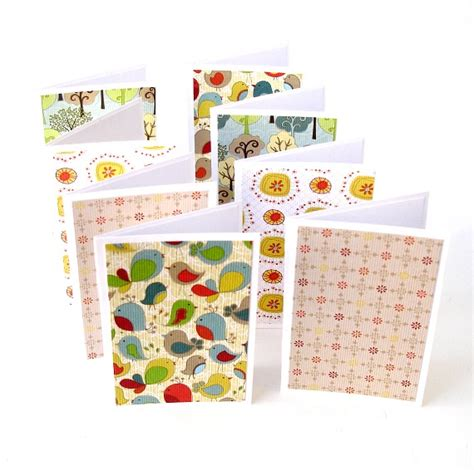 Handmade Note Cards - assorted mini note cards blank handmade cards set of 8