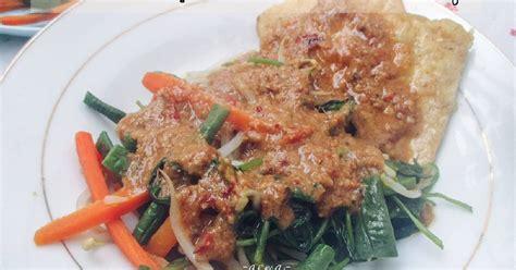 resep pecel sayuran bumbu kacang enak  sederhana