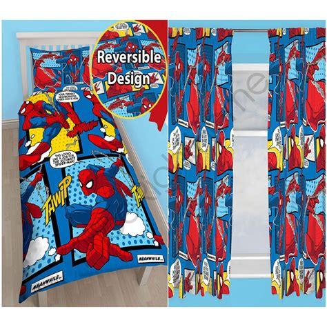 spiderman window curtains spiderman webhead rotary single duvet curtains available
