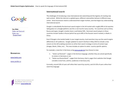 International Search Free International Search Engine Optimisation White Paper How To Speak Th