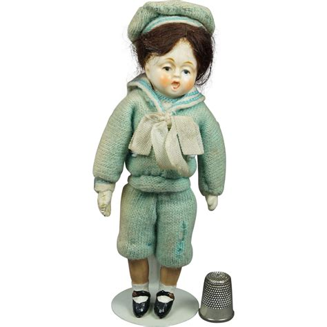 composition sailor doll vintage doll original 1930s miniature composition sailor